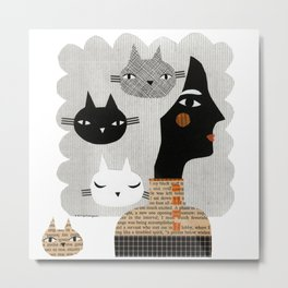 STRAY CAT Metal Print