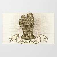 groot Area & Throw Rugs featuring Groot by Lynn Bruce