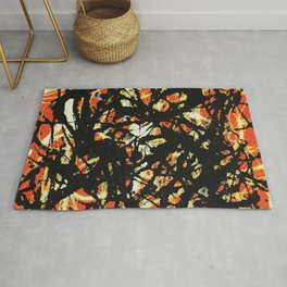 Vectorised and digitally modified, Jackson Pollock style fine art decor and clothing Rug