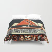 pyramid Duvet Covers featuring pyramid by pcart