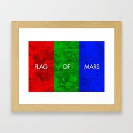 THE FLAG OF MARS Framed Art Print
