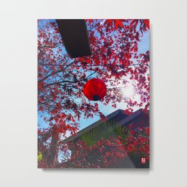 Red Lantan Metal Print