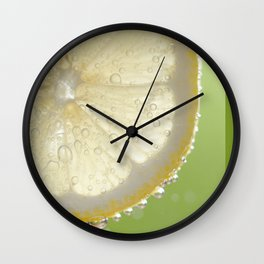 Bubbly Lemon - Lime Green Wall Clock