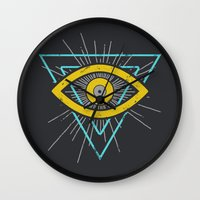 illuminati Wall Clocks featuring Illuminati by David Elliott | Nocturnal