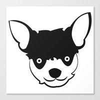 chihuahua Canvas Prints featuring Chihuahua by anabelledubois
