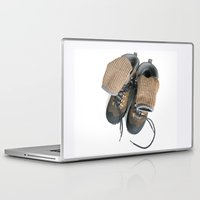 hiking Laptop & iPad Skins featuring Hiking Boots by Ann Horn
