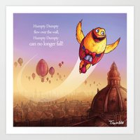 """""""Humpty Dumpty"""" Page Sample 2 (Mother Goose Retold-Trumble Book) Art Print"""