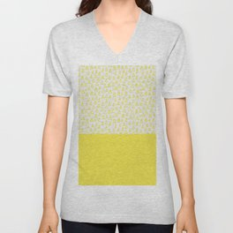 Triangles yellow Unisex V-Neck