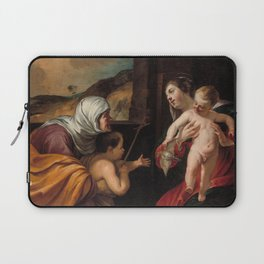 Jacques Blanchard - Virgin and Child with Saint Elizabeth and the Infant Saint John the Baptist Laptop Sleeve