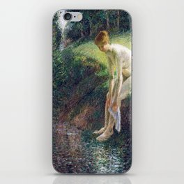 Camille Pissarro Bather in the Woods iPhone Skin