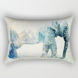 Vanishing Elephant  Rectangular Pillow