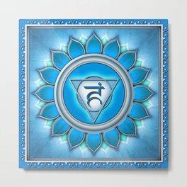 Vishuddha Chakra - Throat Chakra - Series II Metal Print
