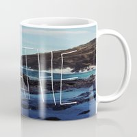 breathe Mugs featuring Breathe by Leah Flores
