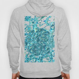 Flower of life in the water Hoody