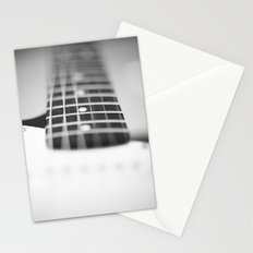 Guitar macro monochrome Stationery Cards
