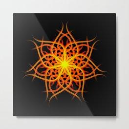 Mandala 1 - Sunrise Flower Metal Print