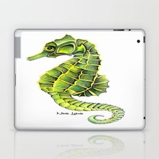 Sea Horse Green Yellow Sea Life Ocean Underwater Creature Laptop & iPad Skin
