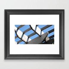 Sky Grid Framed Art Print