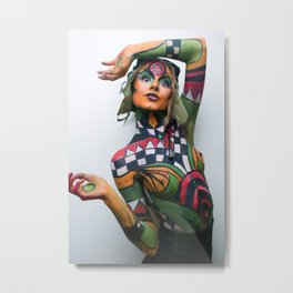 World War II bomb Body Painting by Lindzor The Creator Metal Print