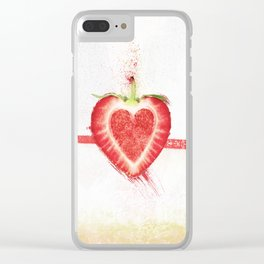 Stawberry Clear iPhone Case