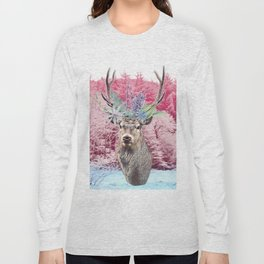Floral Stag Long Sleeve T-shirt