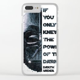 The Power of the Dark Side - Darth Vader Clear iPhone Case