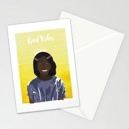 Good Vibes dark skin illustration Stationery Cards