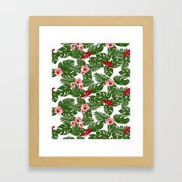 Hibiscus pattern Framed Art Print