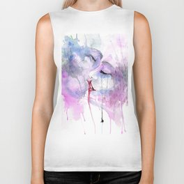 "Watercolor Painting of Picture ""Passion"" Biker Tank"