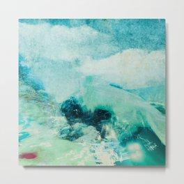 Elven land abstract digital painting Metal Print