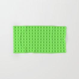Lime Green Retro Squares Hand & Bath Towel