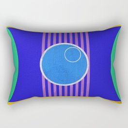 Space Voyage Blue Dot Special: Admit One Rectangular Pillow