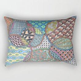 Colorful Overlapping Circles Rectangular Pillow