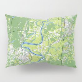Pioneer Valley map Pillow Sham
