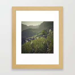 Açúcar slopes Framed Art Print