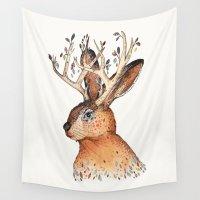 jackalope Wall Tapestries featuring Jackalope by Sandra Dieckmann