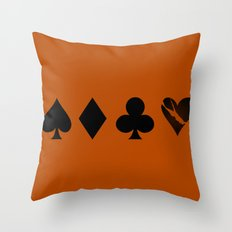 Love is a Game Throw Pillow
