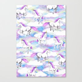 Unicorns and Rainbows Canvas Print