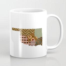 Oklahoma State Map Coffee Mug