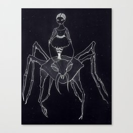 Along Came A Spider (Little Miss Muffet) Canvas Print