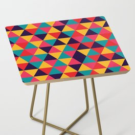 Colorful Triangles (Bright Colors) Side Table