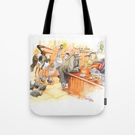 Birds's bar Tote Bag
