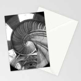 The spiral staircase in the Renaissance castle Hartenfels in Torgau / Saxony Stationery Cards