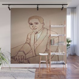 Langston Hughes by Double R Wall Mural