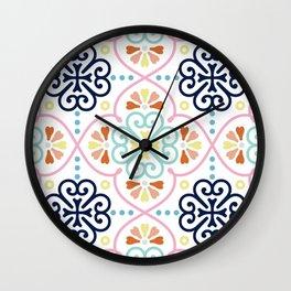Pastel Moroccan Pattern Wall Clock