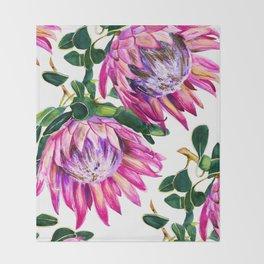 Protea study no.1 Throw Blanket
