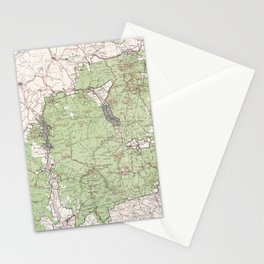 Vintage White Mountains National Forest Map (1863) Stationery Cards