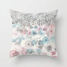 Old Town Bikes Throw Pillow