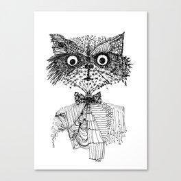 See You Soon, Raccoon Canvas Print