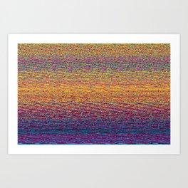 CMYK Glitch Art Print